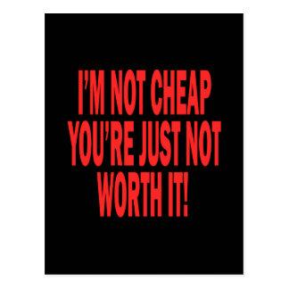Not Worth It Postcard