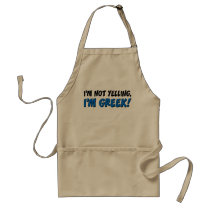 Not Yelling I'm Greek Apron