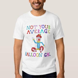 Not Your Average Balloon Gal Balloon Clown T Shirt