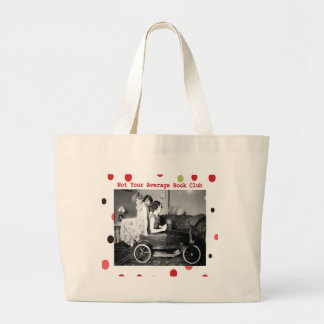 Not your average book club jumbo tote bag