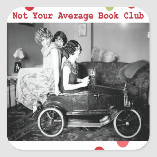 Not your average book club sticker