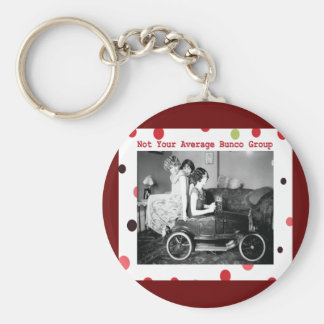 not your average bunco group basic round button keychain