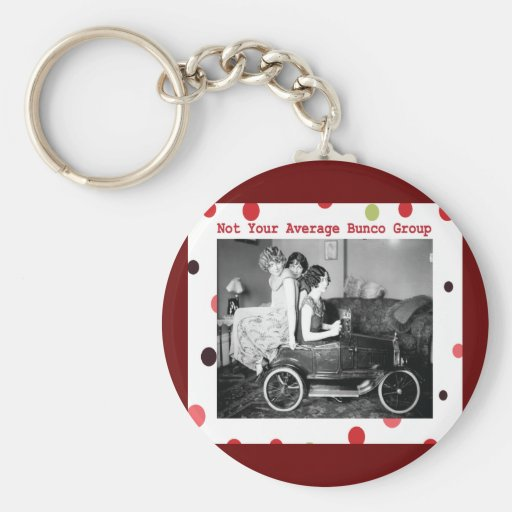 not your average bunco group keychain