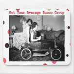 not your average bunco group mouse pad