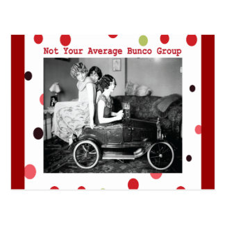 not your average bunco group postcard