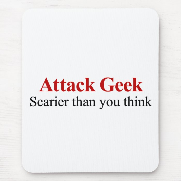 Not your average nerd (attack geek) mouse pad