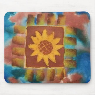 Not Your Granny's Sunflower Quilt Square Mouse Pad