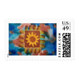 Not Your Granny's Sunflower Quilt Square Postage