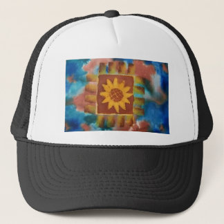 Not Your Granny's Sunflower Quilt Square Trucker Hat