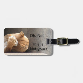 Not your luggage lioness luggage tag
