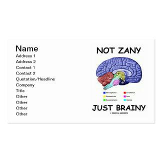 Not Zany Just Brainy (Brain Anatomy Humor) Business Card