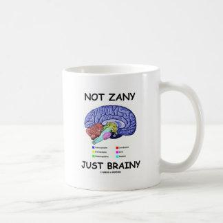Not Zany Just Brainy (Brain Anatomy Humor) Classic White Coffee Mug