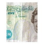 nota £5 - horizontal plantillas de membrete