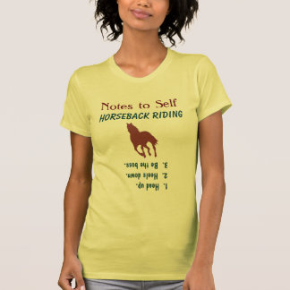 Nota al caballo Cantering de la equitación del uno Camiseta