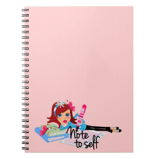 Nota al uno mismo adolescente cuaderno