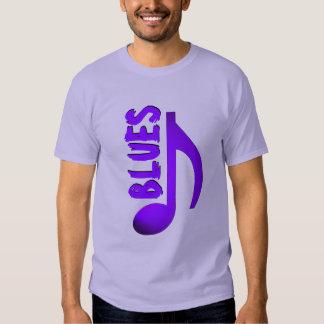 Nota azul púrpura de la música de los azules playeras