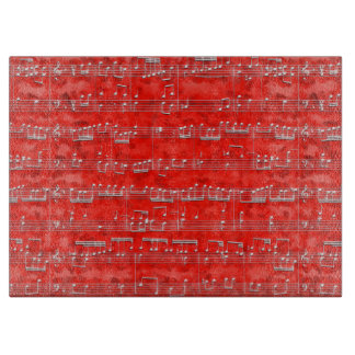 Nota Bene (red and white) Cutting Board