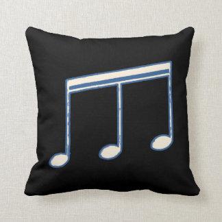 nota blanca música-temática cojín