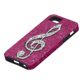 Nota brillante glamorosa impresa de la música del  iPhone 5 Case-Mate cobertura