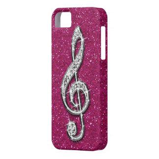 Nota brillante glamorosa impresa de la música del  iPhone 5 cobertura