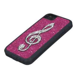 Nota brillante glamorosa impresa de la música del  iPhone 5 protectores