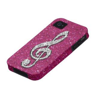 Nota brillante glamorosa impresa de la música del  Case-Mate iPhone 4 fundas