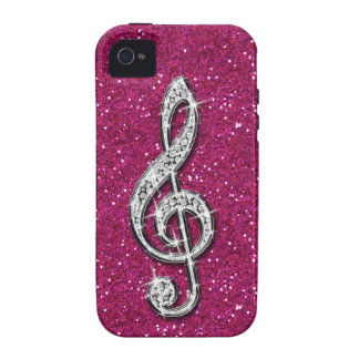 Nota brillante glamorosa impresa de la música del  iPhone 4 carcasa