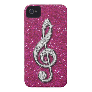 Nota brillante glamorosa impresa de la música del  Case-Mate iPhone 4 protectores