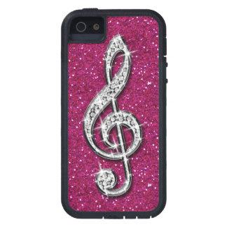 Nota brillante glamorosa impresa de la música del  iPhone 5 Case-Mate funda
