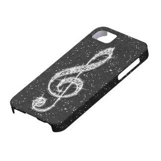 Nota brillante glamorosa impresa de la música del funda para iPhone SE/5/5s