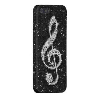 Nota brillante glamorosa impresa de la música del iPhone 5 carcasas