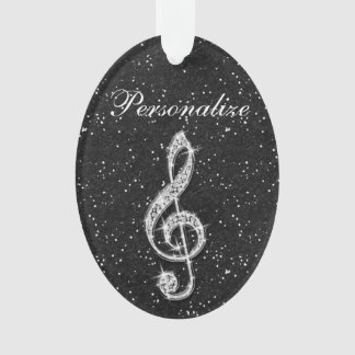 Nota brillante glamorosa personalizada de la músic