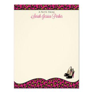 "Nota Cards_Sarah Jessica Parker del fashionista Invitación 4.25"" X 5.5"""