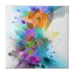 Nota colorida y fresca hermosa de la música de la  azulejo