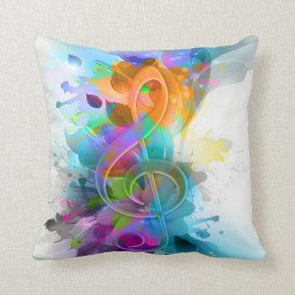 Nota colorida y fresca hermosa de la música de la  almohada
