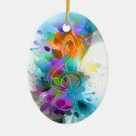 Nota colorida y fresca hermosa de la música de la  ornamentos para reyes magos