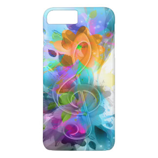 Nota colorida y fresca hermosa de la música de la funda iPhone 7 plus