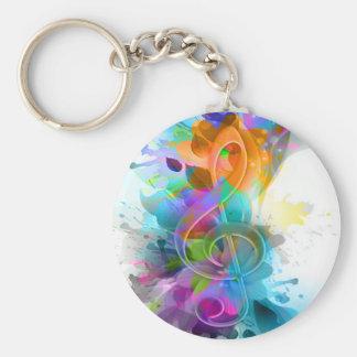 Nota colorida y fresca hermosa de la música de la  llaveros