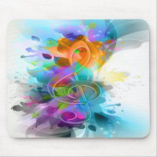 Nota colorida y fresca hermosa de la música de la alfombrillas de raton