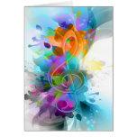 Nota colorida y fresca hermosa de la música de la  tarjeta de felicitación