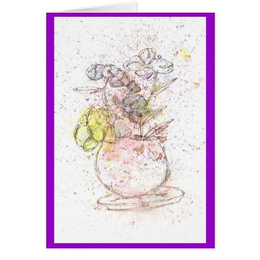 Nota de la flor #2 tarjeta pequeña