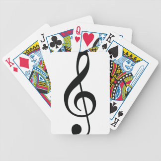 Nota de la música barajas de cartas