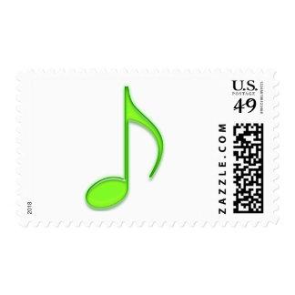 Nota de la música de la cal sello