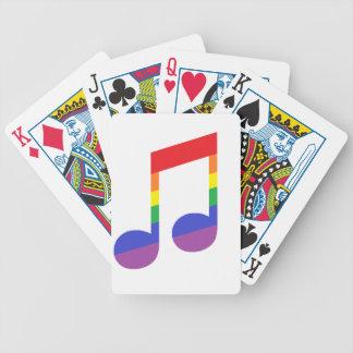 Nota de la música del arco iris barajas de cartas