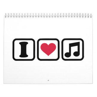 Nota de la música del corazón I Calendario