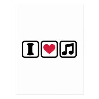 Nota de la música del corazón I Postales