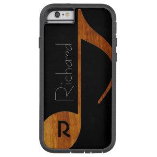nota de la música del madera-color con nombre de funda tough xtreme iPhone 6