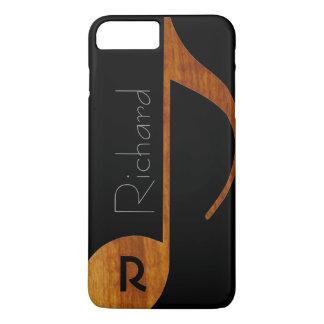 nota de la música del madera-color con nombre funda iPhone 7 plus
