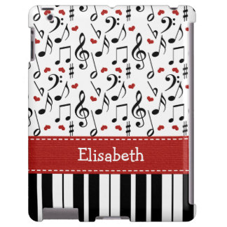 Nota de la música del piano funda para iPad