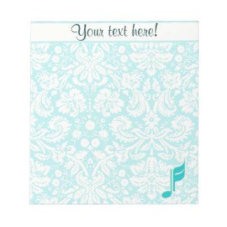 Nota de la música del trullo blocs de papel